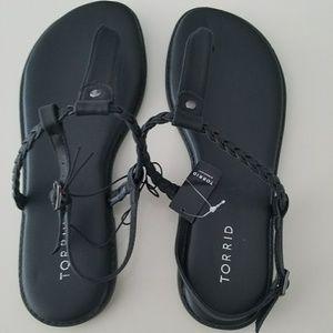 NWT Torrid Black Sandals Size 11